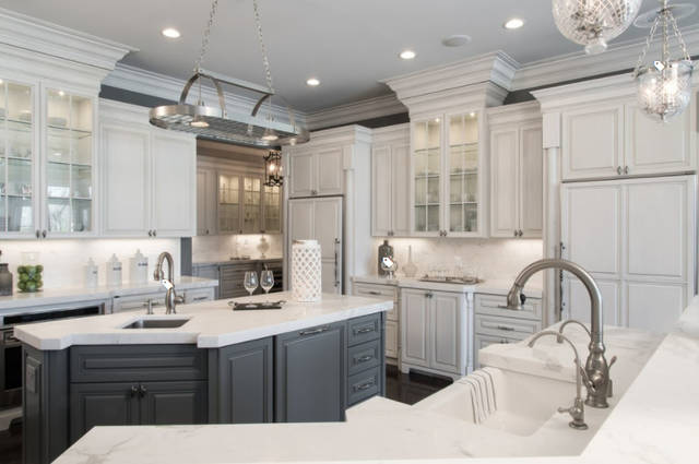 French style white custom kitchen cabinetry and kitchen cabinet design