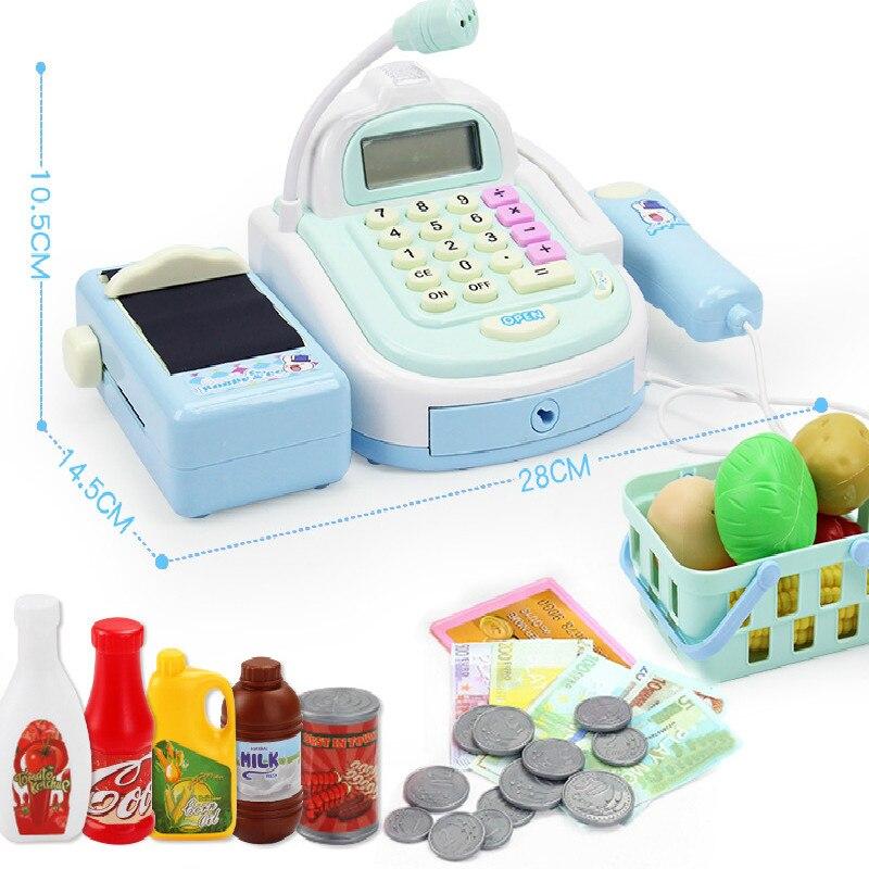 Mini Simulation Supermarket Checkout Counter Foods Goods