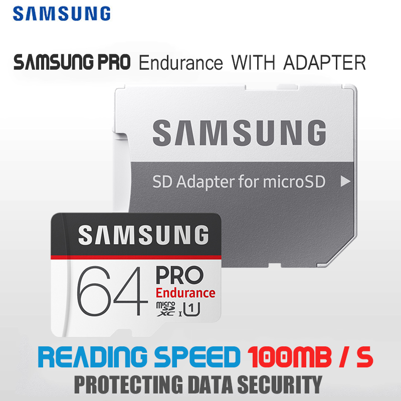 SAMSUNG PRO Endurance Micro SD Card 128GB 16G 32GB Class10 SDHC SDXC UHS-1 Memory card MicroSD TF Card 100MB/s With Adapter samsung micro sd card memory card evo plus 256gb 128gb 64gb 32gb 16g class10 tf card c10 sim card 100mb s sdhc sdxc uhs i128gb