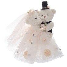 Свадебный Медвежонок пара плюшевый маленький кулон милый чучело игрушки любовник плюшевый 6'