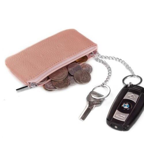 Ladies Women Designer Genuine Leather Slim Coin Purse Uniesex Fashion Men Cowhide Small Zipper Keychain Wallet J50