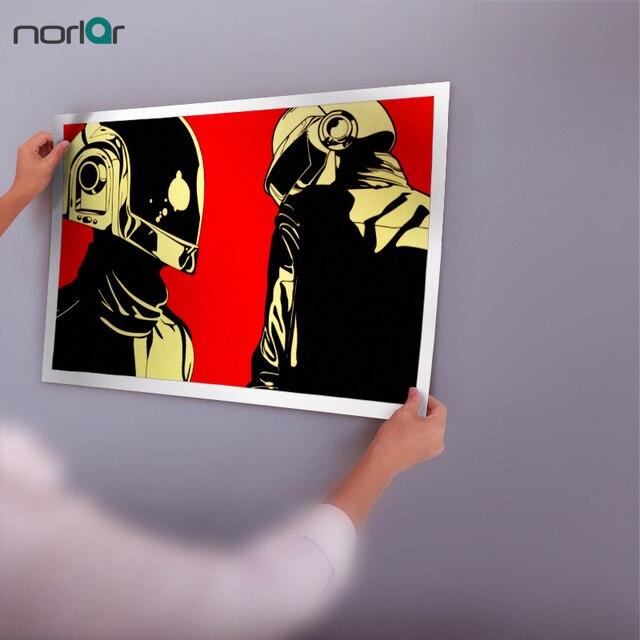 Toile de peinture Daft Punk   Toile imprimée dart, casques Punk, maison, musique Pop Art, énorme GIA NT WA ii imprimé, affiche sans cadre