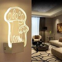 Nowoczesne Żelazko Akrylowy Kryształ grzyb światła DOPROWADZIŁY Kinkiety Światło Korytarza Światło w Pomieszczeniach Stylowe Romantyczny Dekoracji Lampy IY121699