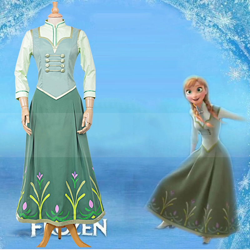 Halloween Costumes for women Movie Princess Cosplay Costume Adult fever anna elsa dress Girls Party fancy