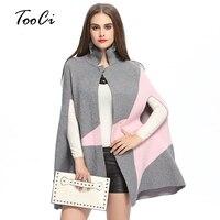 סתיו החורף חדש האופנה פרינג 'סוודר לסרוג בגדי פונצ' ו גלימת אישה מעיל הצמר של נשים