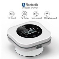 Portable Bluetooth Wireless Speaker, also with FM Radio, with LCD screen,IPX4 waterproof, Better Bass 12 Hour Playtime