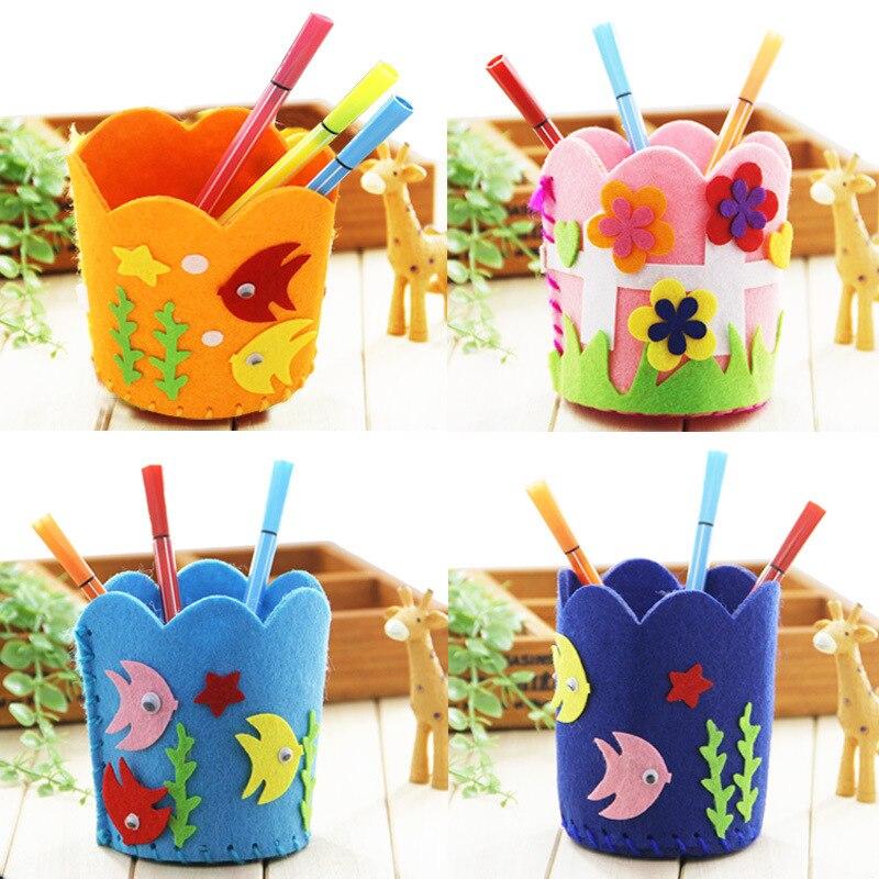 In Staat Kinderen Educatief Diy Penhouder Creatieve Ontwerp Kids Handgemaakte Container Potlood Houder Ambachtelijke Speelgoed Kits Organisator Accessoires