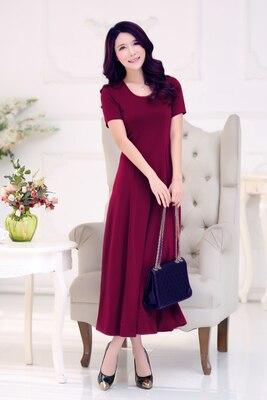 Летнее платье для женщин модное повседневное Макси платье размера плюс черные платья Бохо сарафан вечерние элегантные женские платья - Цвет: winered short sleeve