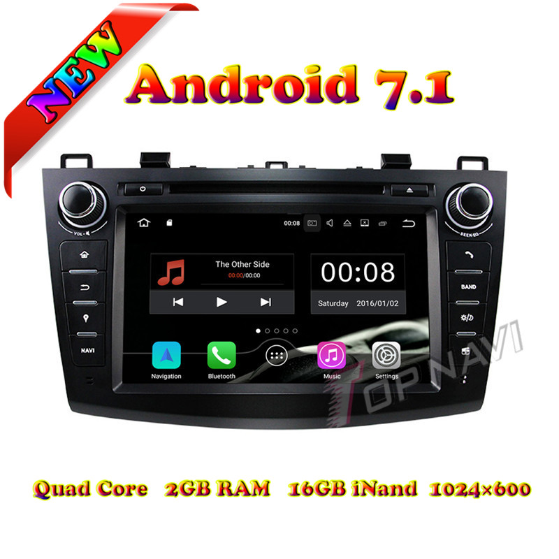 Topnavi 8 Quad Core Android 7.1 Car DVD Multimedia Player for Mazda 3 2010 2011 2012 2013 Radio Stereo GPS Navigation 2G+16GB