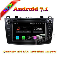 Topnavi 8 Quad Core Android 7.1 Car DVD Multimedia Player for Mazda 3 2010 2011 2012 2013 Radio Stereo GPS Navigation 2G+16GB
