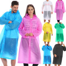 Fashion EVA Women Raincoat Thickened Waterproof Rain Coat Women Clear Transparent Camping Waterproof Rainwear Suit(China)