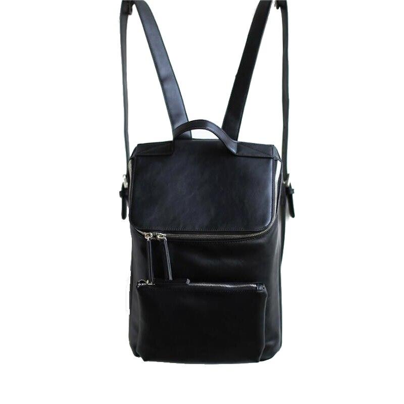 2016 New Designer Women Backpack Preppy Style School Bag PU Leather Backpack Ladies High Quality Black Rucksack Travel Backpack 2015 new fashion designer genuine leather brand ladies preppy style women backpack school backpack women shoulder wnb069