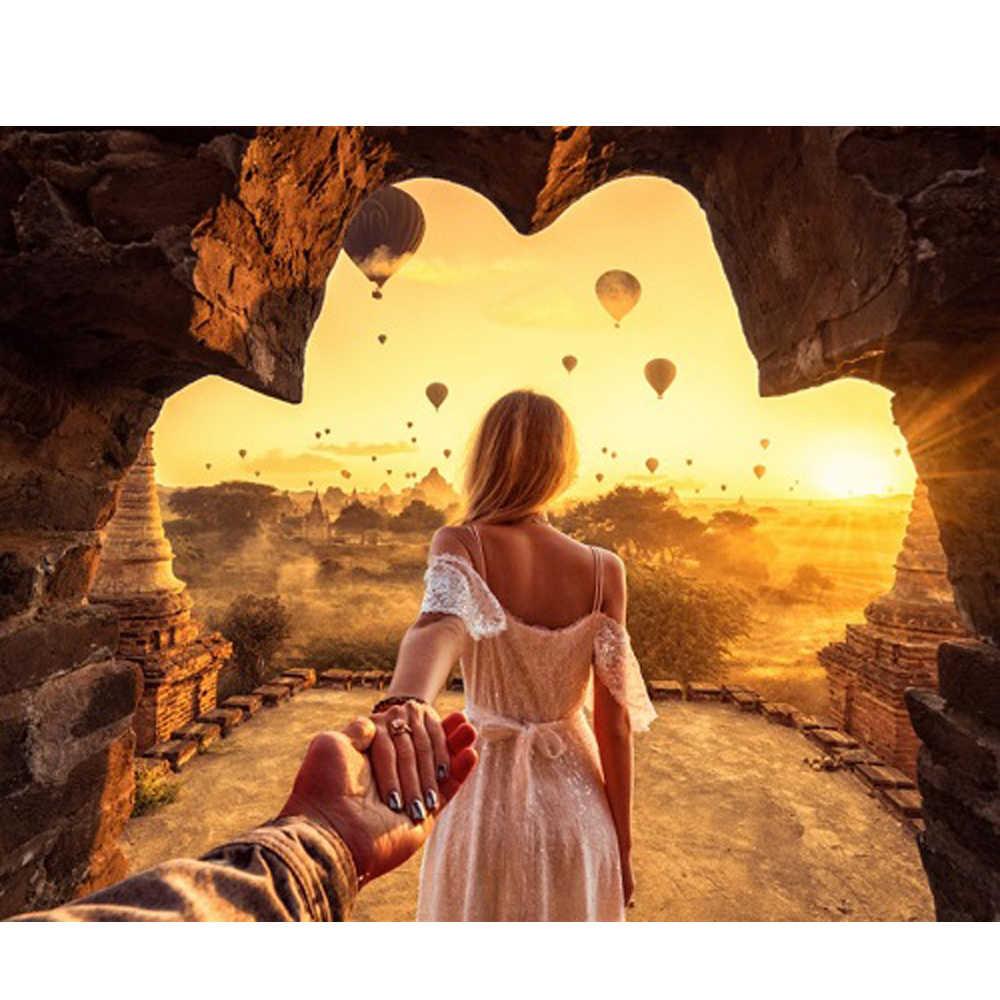 لتقوم بها بنفسك PBN الاكريليك اللوحة رومانسية الناس الصور بواسطة أرقام على قماش مؤطرة جدار صور الفن لغرفة المعيشة ديكور المنزل
