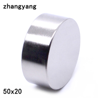 ZHANGYANG 1pcs Lot N40 Neodymium Magnet 50 20mm Small Disc Round Super Strong Magnets 50X20mm Magnets