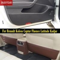 Car Pads Front Rear Door Seat Anti Kick Mat For Renault Koleos Captur Kaptur Fluence Latitude