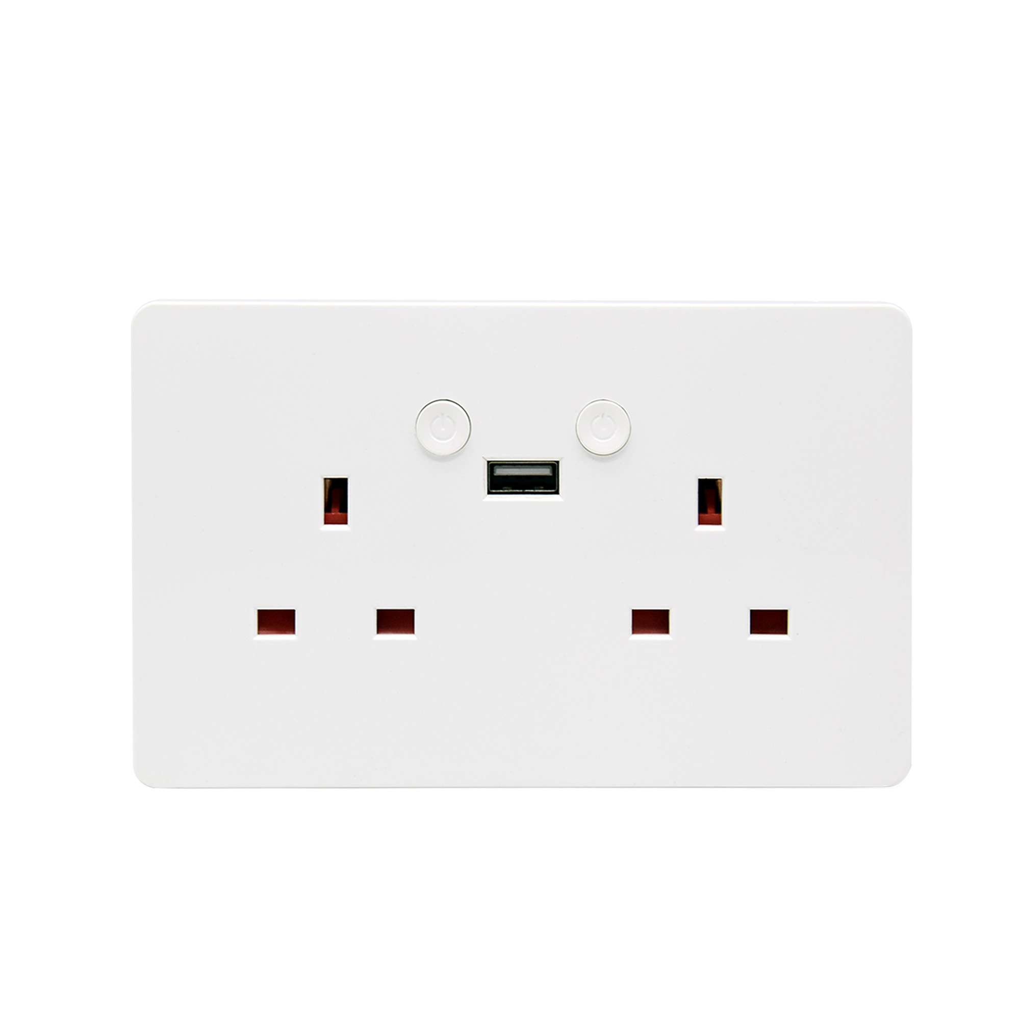 UK 15A Wifi cuisine prise USB prise de courant, prises d'adaptateur intelligentes avec usb 2.0, compatible alexa, assistant google, application TUYA