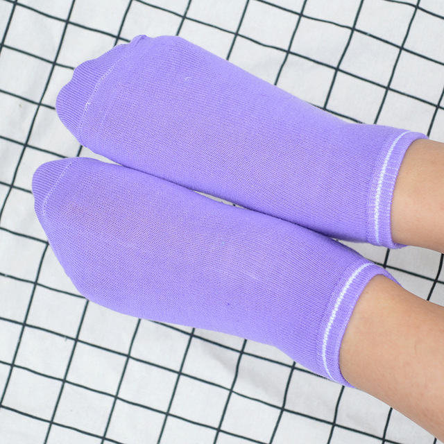 1 Pair Candy Color Home Indoor Floor Anti Slip Women Socks Polyester Kawaii Cute Fashion Girls Short Ankle Invisible Socks