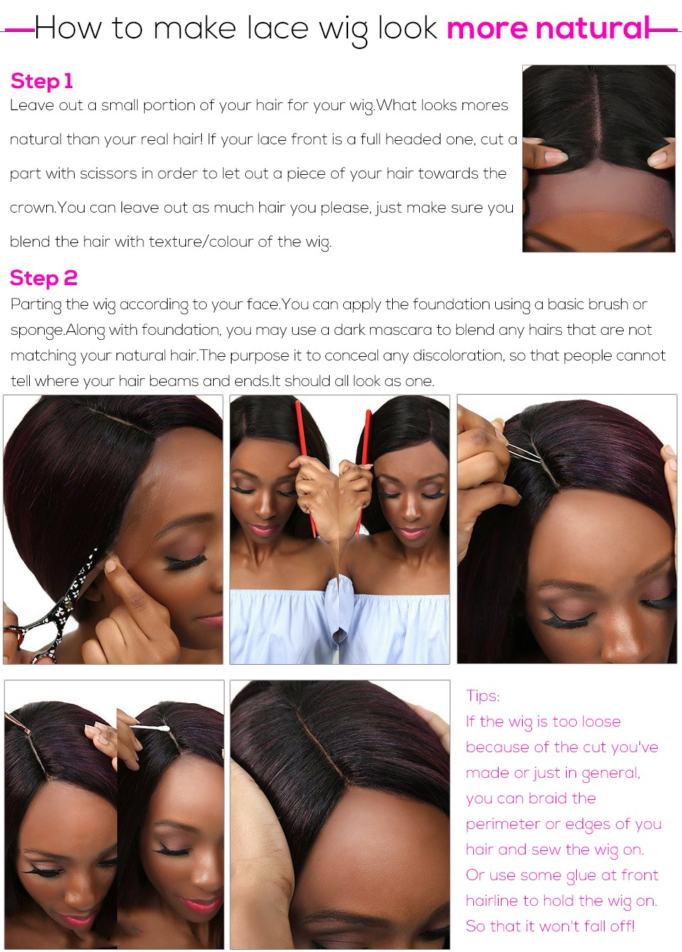 How to make lace wig look more natural