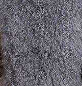 CX-A-52P из натуральной монгольской Овцы меховой воротник из натурального меха ягненка шарф шарфы накидка дизайн для леди - Цвет: Темно-серый