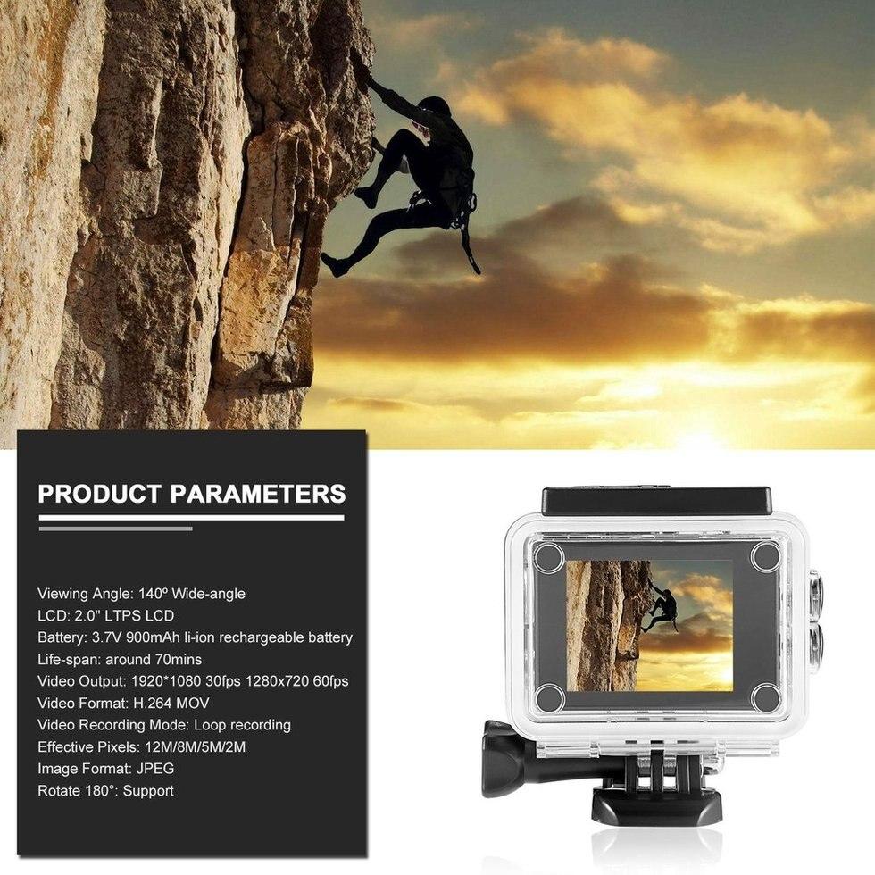 2 pcs Noir 2.0 pouce HD SJ4000 1080 p 12MP Voiture de Sport DV Caméra Vidéo D'action