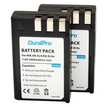 DuraPro 2Pcs 1800mAh EN-EL9 EN-EL9a Battery for Nikon D3000 D5000 D40 D60 D40X SLR Cameras
