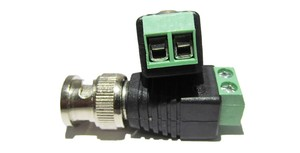 Image 2 - 2pcs/lot Mini Coax BNC Connector UTP Video Balun Connector BNC Plug DC Adapter For CCTV Surveillance Camera CCTV system