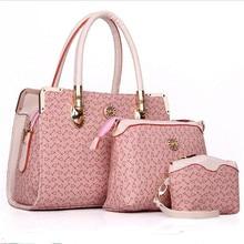 3 Bag/Set Nueva Madre Del Bolso Diseñador de la Marca Mujeres Bolsa de Carta de Rayas de Moda Femal Bolsos de Hombro Bolsas de Regalo Para La Madre
