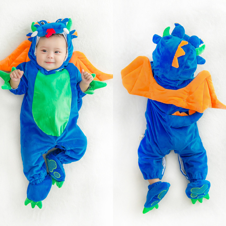 9598f9a7711a Baby Halloween Costume Pumpkin Unisex Baby Onesies Animal Onesies Kids  Clothes Newborn Dog Winter Overalls Autumn Cartoon-in Rompers from Mother    Kids on ...