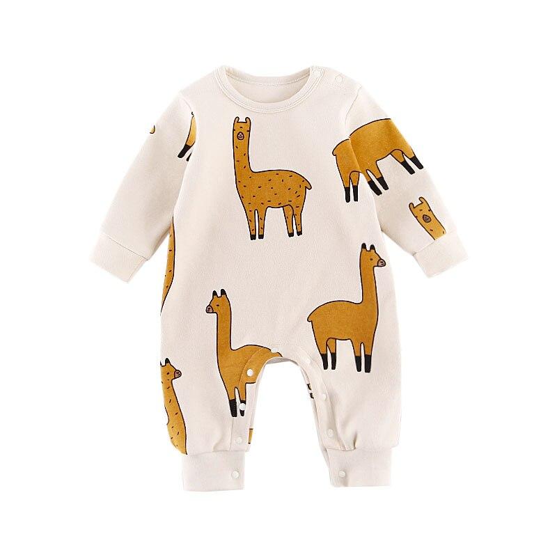 Bebé lindo del animal del muchacho Niñas jumpsuit trajes manga larga ropa infantil unisex bebés de una pieza recién nacido niños ropa