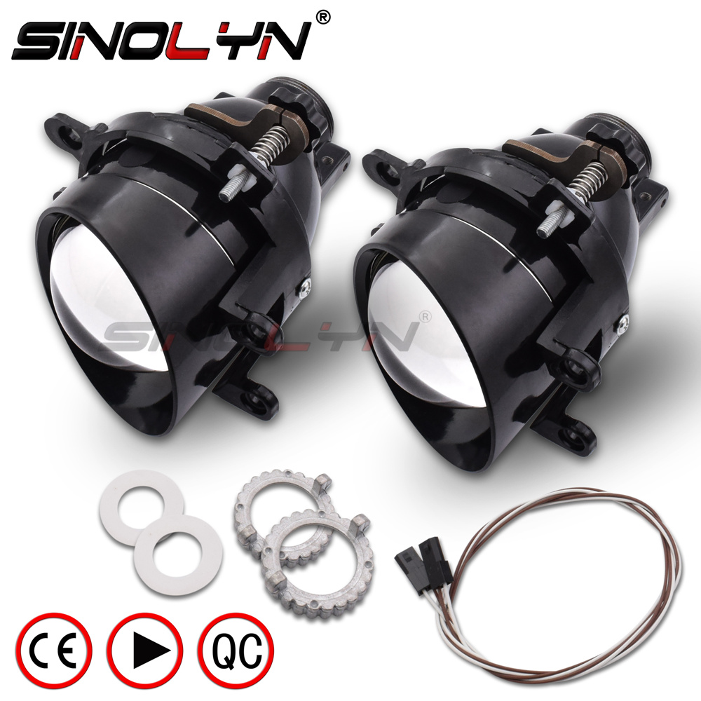 SINOLYN Bixenon Projector Lens Fog Lamp Driving Light W/ HID Bulb D2H Waterproof For Toyota COROLLA/CAMRY/HIGHLANDER/PRIUS/RAV4 taochis auto 3 0 inch hid bi xenon projector lens fog light for toyota corolla camry rav 4 lexus vios prius highlander h11