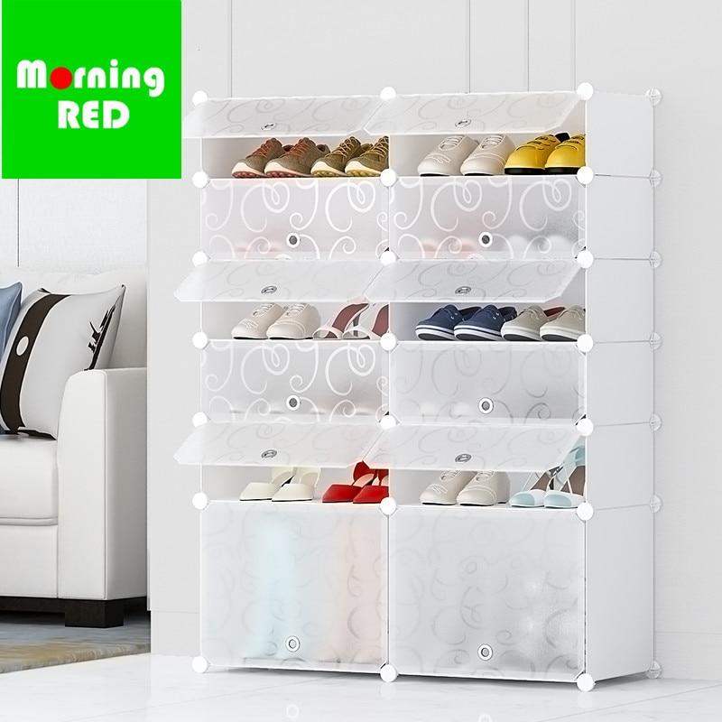 Nouveau squelette en acier Transparent boîte à chaussures étanche à la poussière assemblage étagère à chaussures en plastique bottes boîte de rangement pour la maison salon organisateur