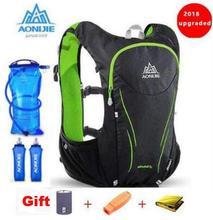 AONIJIE Running Backpack Women Men Upgraded 5L Lightweight Hydration Pack Vest Marathon Hiking