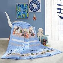 Одеяло с мультяшными мишками, летнее стеганое одеяло, сшитое из модала, полиэстер, наполнитель, Твин-квин, Кондиционер