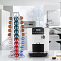 Hot Sale 40 Cups Iron Plating Coffee Capsules Shelves Kitchen Durable Storage Racks High Quality