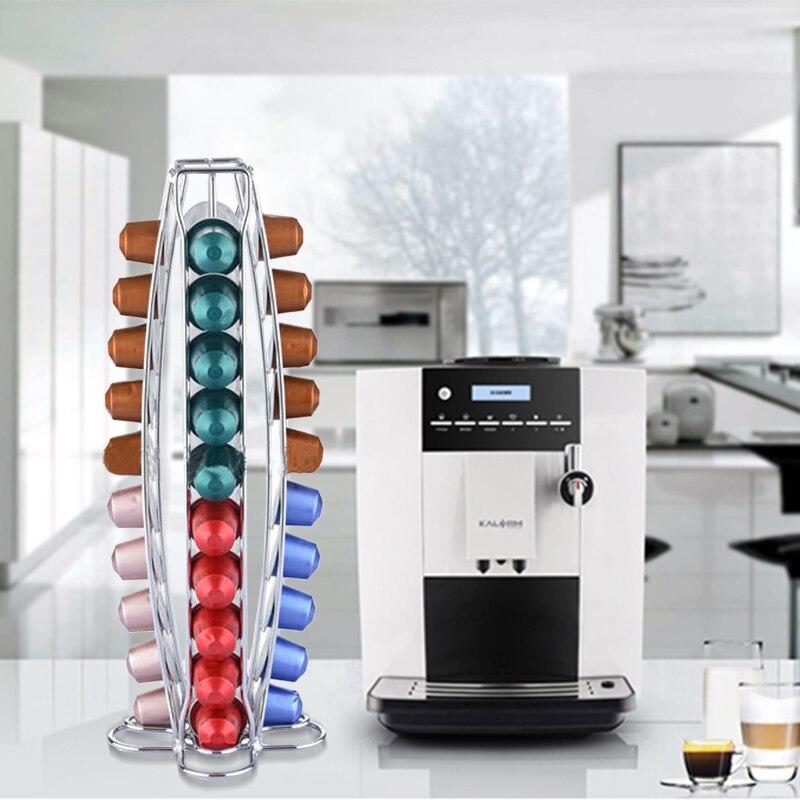 YONTREE Hot Sale 40 Cups Iron Plating Kaffekapsler Hylder Køkken - Hjem opbevaring og organisation - Foto 2