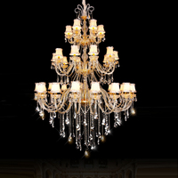 Modern crystal chandelier lighting restaurant crystal lamp duplex building stair lamp hotel lobby culb led crystal chandeliers