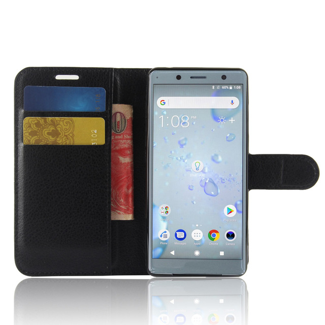 the best attitude 66070 f8561 US $3.84 45% OFF|YINGHUI for Sony Xperia XZ2 Compact Wallet Case Litchi  Texture Leather Case Cover for Sony XZ2 Compact H8324 Flip Case 5.0 inch-in  ...