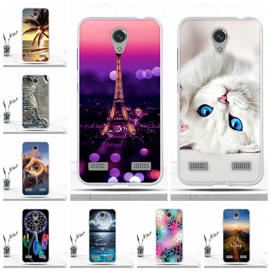 Case For ZTE Blade BA520 Case Soft TPU Silicone Phone Cover For ZTE Blade A520 Cover Luxury Cool Back Cover For ZTE Blade BA520