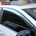O Envio gratuito de 4 pçs/lote Viseiras Janelas Para Toyota Corolla 2008-2013 Sol Chuva Escudo Cobre Carro Stylingg Toldos Abrigos