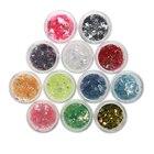 12 Colors Flakes Nail Glitter Powder Bling Nail Powder Shimmer Nail Art Glitter Dust Shell Powder