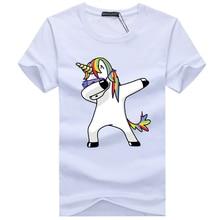 2019 Men's t-shirts Men's Summer short sleeves Unicorn carto
