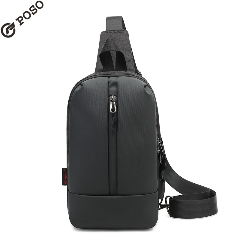 POSO For 9.7 Inch Tablet Shoulder Bags Korean Fashion Sports Chest Bag Chest Bag External USB Interface Crossbody Bag