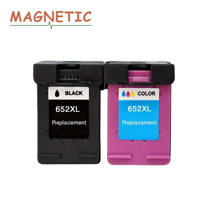 Magnétique Compatible cartouches d'encre Pour HP652 Pour HP 652 XL Deskjet 1115 1118 2135 2136 2138 3635 3636 4536 4535 imprimantes 652XL