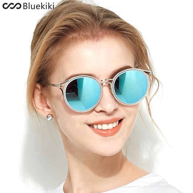 0b2c008a4e KIKI 2017 Women Polarized Sunglasses Round Brand Designer Blue Sun Glasses  Driving UV400 Cat eye gafas