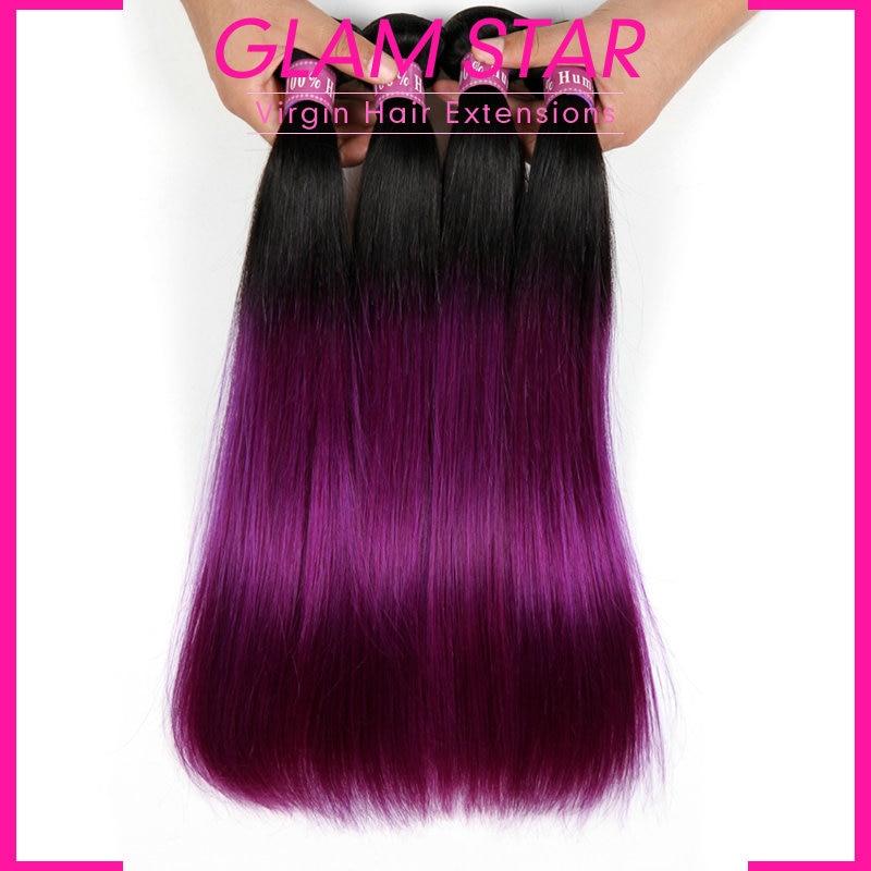 ombre brazilian hair 1b purple