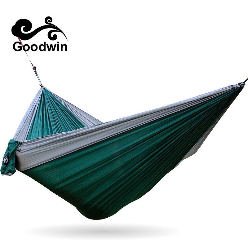 US $17.66  Hochwertige Outdoor Hängematte Goodwin Erweiterung Twin Innen  Camping Und Freizeit Fallschirmseide Hängematte Schaukel-in Hängematten aus  ...