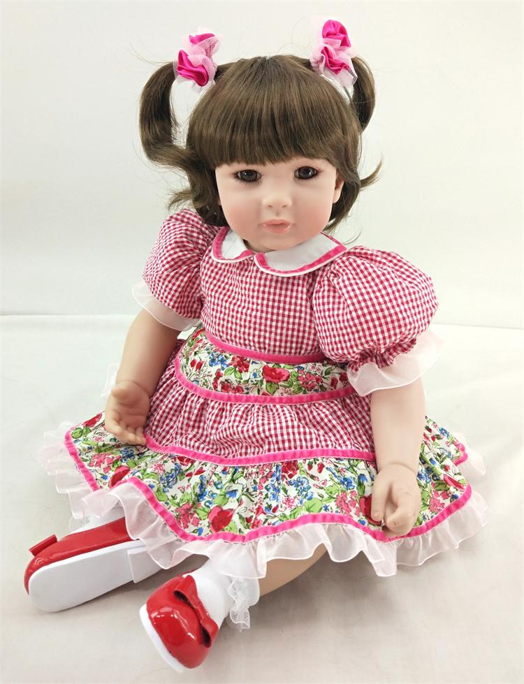 50cm Silicone Reborn Babies Doll Toys For Kid Vinyl Lovely Toddler Princess Baby Doll Girl Brinquedos Child Birthday Gifts 50cm silicone reborn babies doll toys lifelike vinyl lovely princess toddler doll kids birthday gift child girl brinquedos