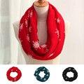 Genovega Inverno Quente Infinito Scarf Mulheres Moda Grande Viscose Vermelho Anel Lenço Foulard Femme Xales E Lenços de Loop Do Floco De Neve