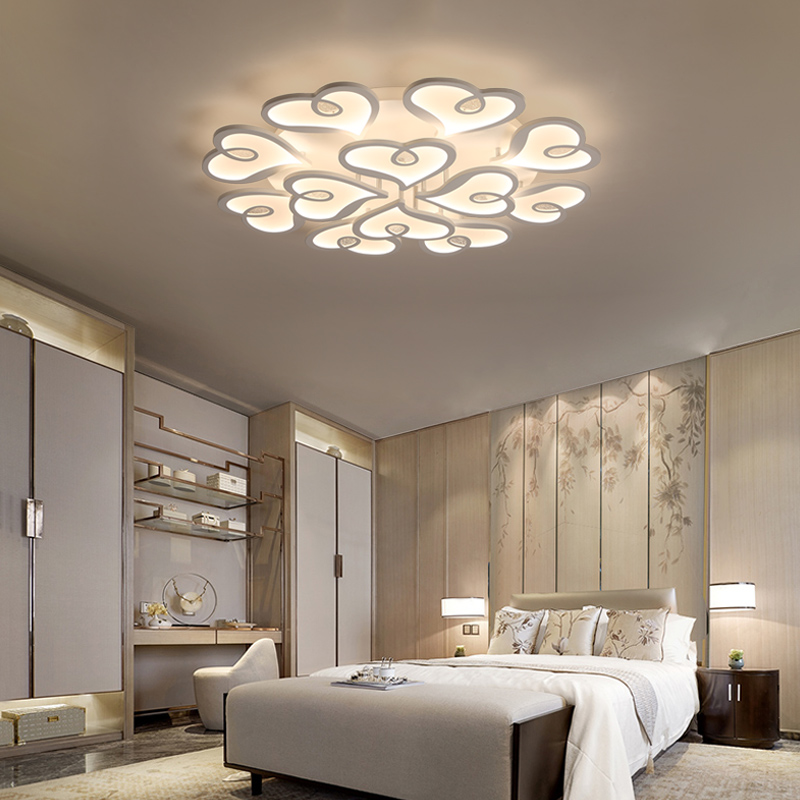 Современные светодиодный Потолочные светильники для спальни гостиной теплая Любовь дизайн внутреннего освещения мода потолочный светиль
