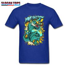 8b6cd910cda3 Newest Funny T-shirt For Men Wave Surfer T Shirt Cartoon Monster Print  Tshirt Pool Holiday Blue Tops Fitness Tees Cotton Clothes